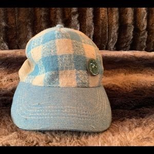 UNBUTTON BLUE PLAID HAT!!